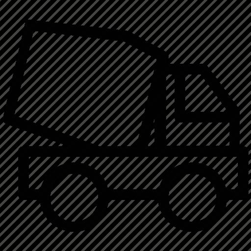 concrete truck, concrete vehicle, construction vehicle, transport, truck icon
