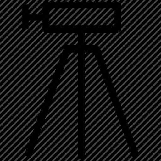 camera, industrial camera, movie camera, survey camera, tripod camera icon
