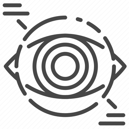 bot, cyborg, robo, robot, view, vision icon