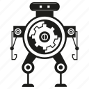 android, cartoon, character, cyborg, gear, robot, toy icon