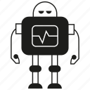 android, cartoon, character, cyborg, mascot, robot, toy icon