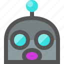 atonished, emoji, robot icon