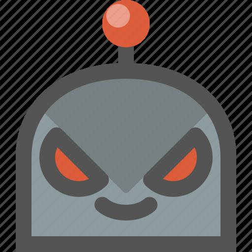 bad, emoji, robot icon