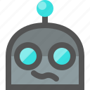 confused, emoji, robot icon