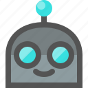 emoji, happy, robot icon