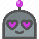 emoji, in, love, robot icon