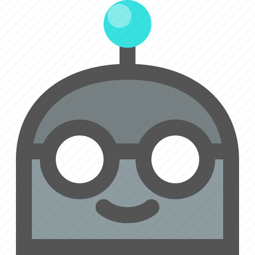 emoji, nerd, robot icon