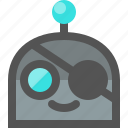 emoji, pirate, robot icon
