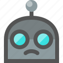 emoji, robot, sad icon