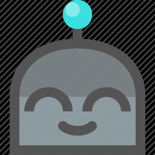 emoji, robot, satisfied icon