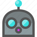 emoji, robot, surprised icon