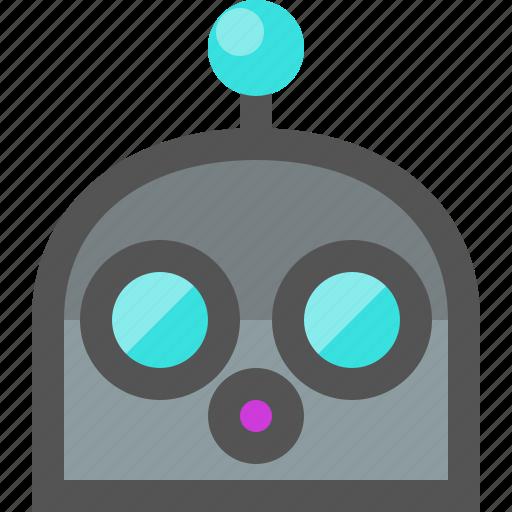 emoji, robot, surprised icon