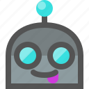 emoji, robot, tongue icon