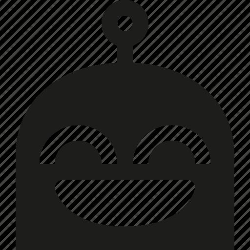 emoji, glad, robot icon