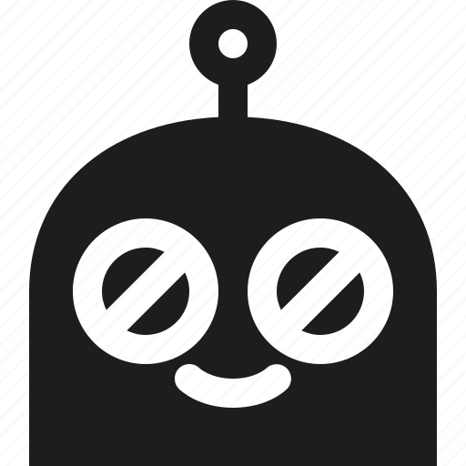 emoji, happy, robot icon