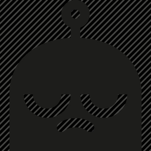 emoji, robot, upset icon