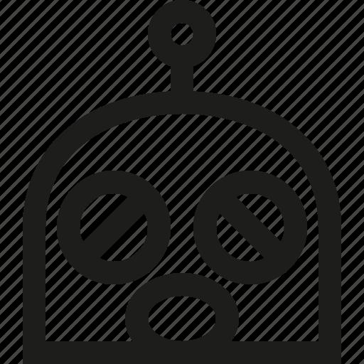 atonished, emoji, robot icon