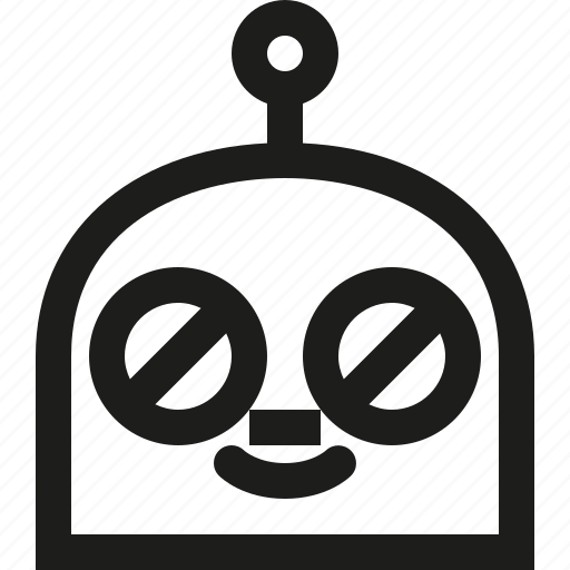 clown, emoji, robot icon