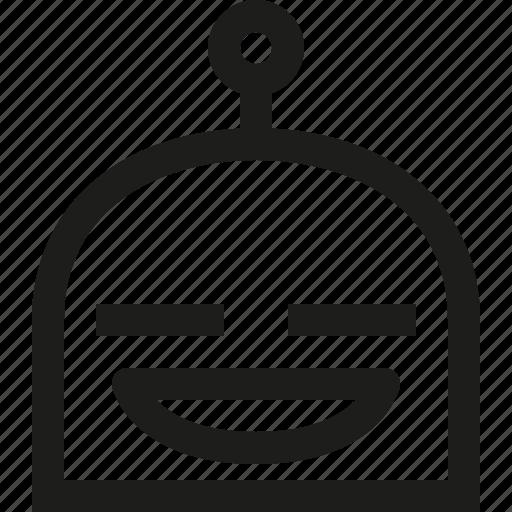 contented, emoji, robot icon