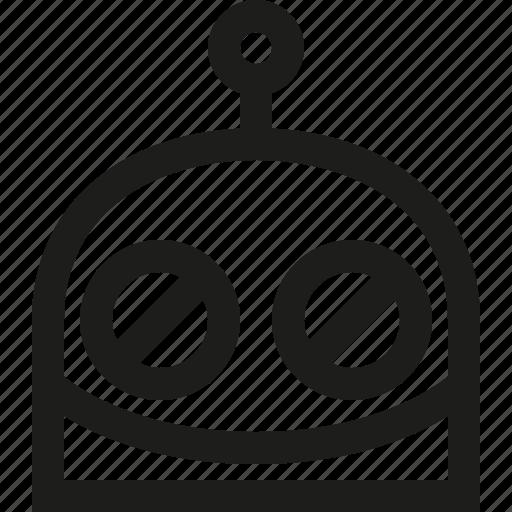 emoji, grin, robot icon