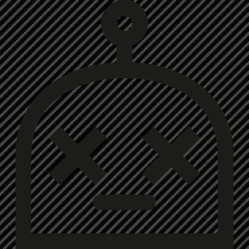 emoji, lifeless, robot icon