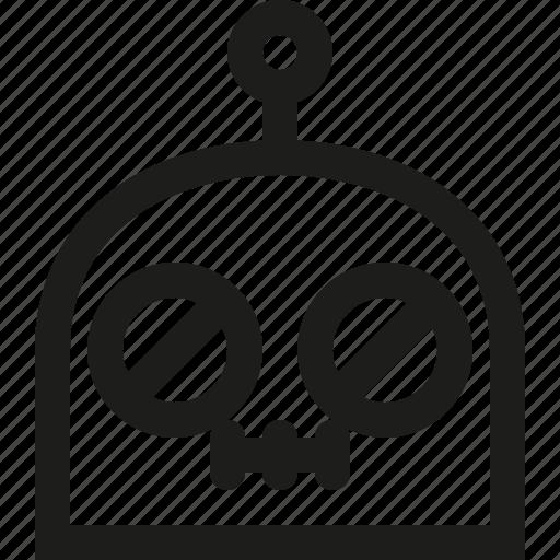 emoji, no, robot, words icon