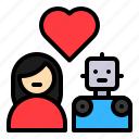 avartar, couple, humanoid, love, robot, robotics, women icon