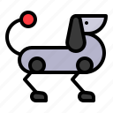 dog, machine, pet, robot, robotics icon