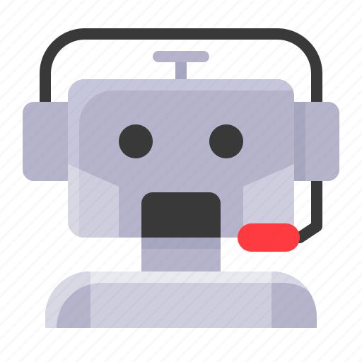 android, avartar, call center, operator, robot, robotics icon