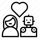 avartar, couple, humanoid, love, robot, robotics, woman icon