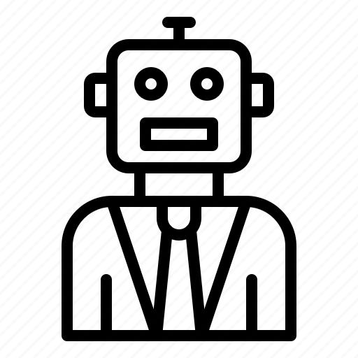 android, avartar, humanoid, robot, robotics icon