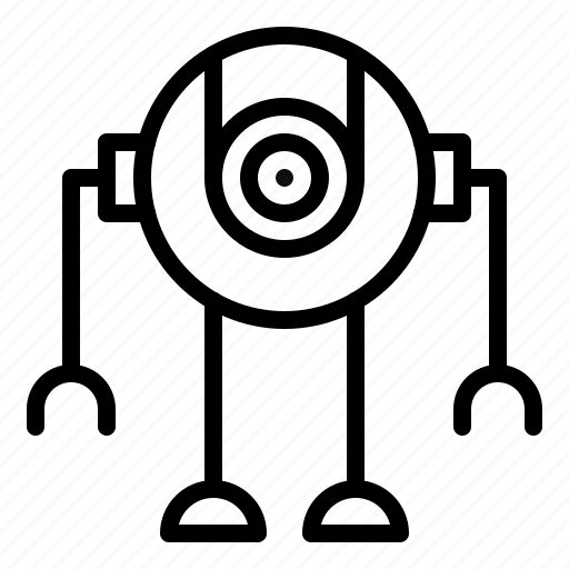 camera, navigation, robot, robotics, survey icon