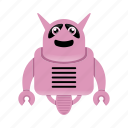 character, cyborg, robot, robot cartoon icon