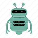 android, cartoon, cyborg, robot, robot character icon