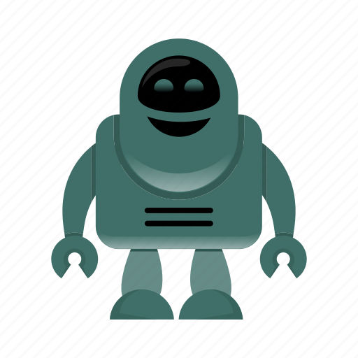 android, cyborg, robot character icon