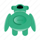 android, artificial intelligence, robot character icon