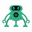 android, cyborg, robot icon