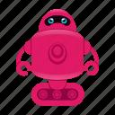 cartoon, cyborg, reboot character, robot icon