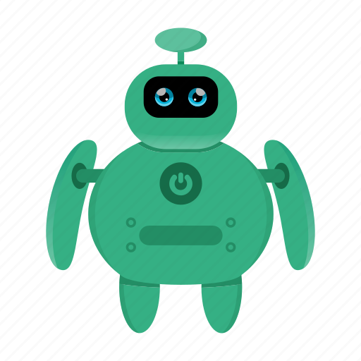 Cyborg, robot, artificial intelligence icon