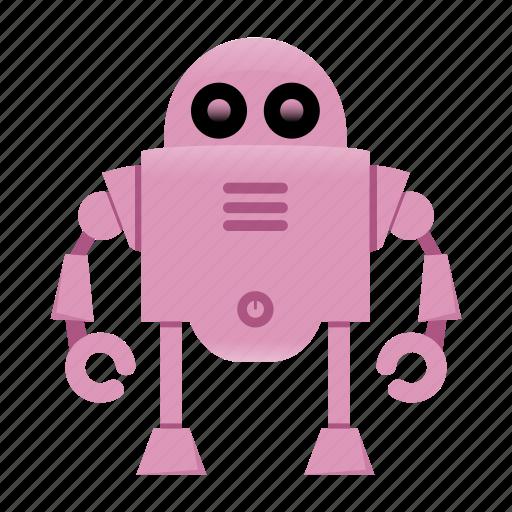 character, cyborg, mascot, robot icon
