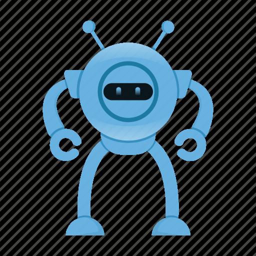 cyborg, robot, robot cartoon icon
