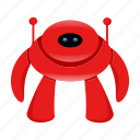 android, cute robot, cyborg icon