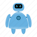 cute robot, cyborg, robot icon