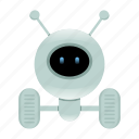 artificial intelligence, cyborg, robot icon