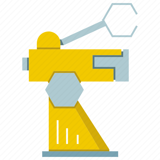 automate, cnc, industrial, manufacture, production, robot, robotic hand icon