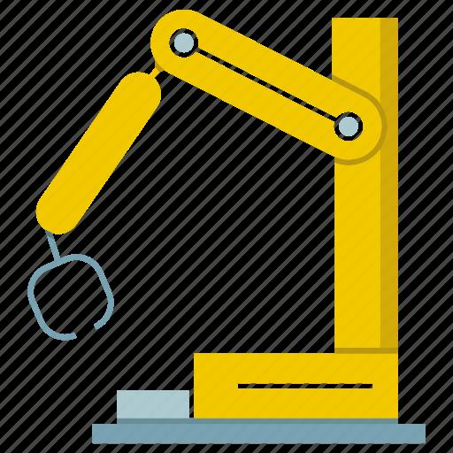 automate, cnc, industrial, machine, production, robot, robotic hand icon