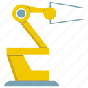 automate, industrial, machine, manufacture, production, robot, robotic hand icon