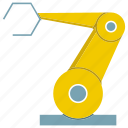 factory, industrial, machine, manufacture, production, robot, robotic hand icon