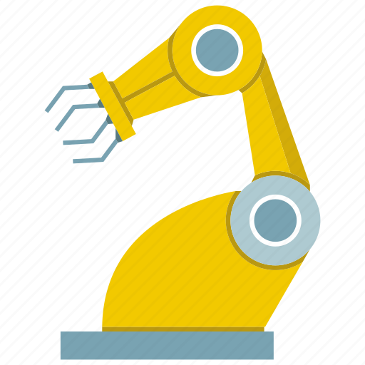 automate, factory, industrial, machine, manufacture, robot, robotic hand icon