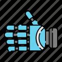 cyborg, machine, robot, robotic, hand, technology, innovation icon